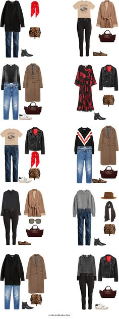 What to Pack for Strasbourg, France Packing Light List Outfit Options 11-20 | What to France | Packing Light | Packing List | Travel Light | Travel Wardrobe | Travel Capsule | Capsule |