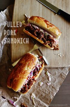 Pulled Pork Sandwich with Lime Slaw