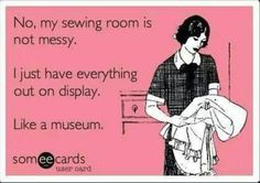 And I don't have a fabric stash, I have a collection!
