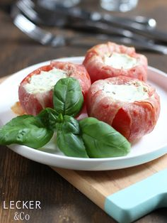 lecker & co: Bacon-Tomaten mit Kräuterquark für den Grill {Werbung}