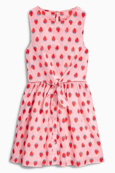 Buy Strawberry Print Tie Front Dress (3-16yrs) from the Next UK online shop