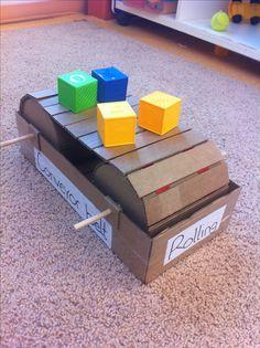 A conveyor belt made from cardboard