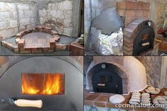 Fireplace with bread oven fireplace and pizza oven - Materiales para hacer un horno de lena ...