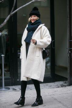 NYFW Street Style Day 7 | Flashback Friday: NYFW Street Style Stars Trekked Through the Snow For Fashion