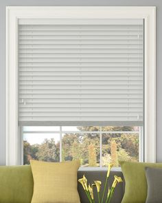Polar White Wooden Venetian blind without tapes, 50mm slats - from Make My Blinds