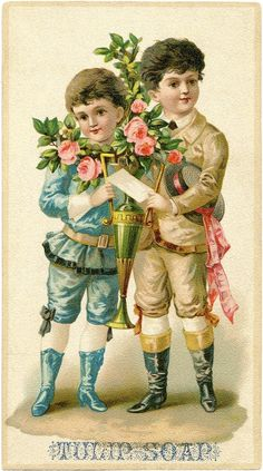 Fancy Victorian Boys Graphic - The Graphics Fairy