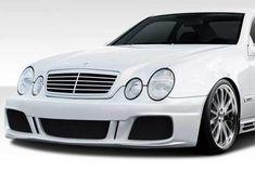 Mercedes CLK Duraflex Look Body Kit - 4 Piece - Includes Look Front Bumper Cover Look Side Skirts Rocker Panels Look Rear Bumper Cover Classic Mercedes, Mercedes Benz Cars, Performance Auto Parts, Look Body, Benz E Class, The Body Shop, Car Parts, 1 Piece, Volkswagen