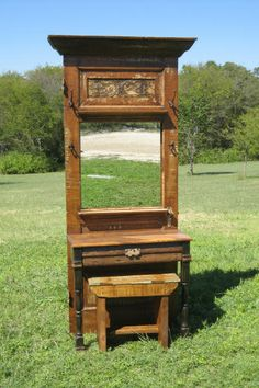 Repurposed Door - Vanity.  Love this concept, would make some alterations!  (:
