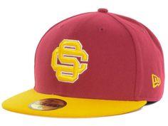 99484ce9b5879 USC Trojans DCM NCAA Team Color 59FIFTY Cap