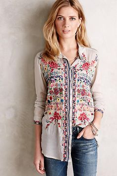 Hersilia Buttondown - anthropologie.com