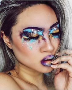 Discover ideas about sfx makeup Makeup Inspo, Makeup Art, Makeup Inspiration, Beauty Makeup, Sfx Makeup, Scene Makeup, Goth Makeup, Makeup Ideas, Maquillage Halloween