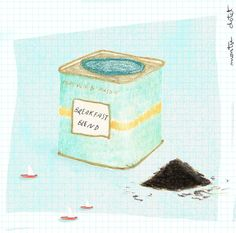picnicmonsummer tea, by based on the beautiful tea tins teapot Fortnum And Mason, Tea Tins, Illustration Artists, Hygge, Teapot, Ocean, Cold, My Love, Winter