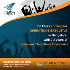 Pinfliers wants people who:  •Encompass high confidence and determination to influence events. •Possess team leadership skills, providing inspiration. •Communicates effectively to drive results •Motivates the team to succeed  Approach us if you're the One!