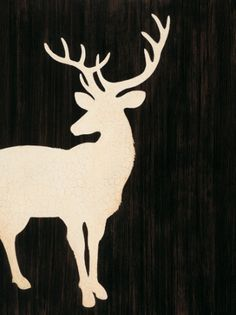 Stag Silhouette by Anonymous Art Print - WorldGallery.co.uk