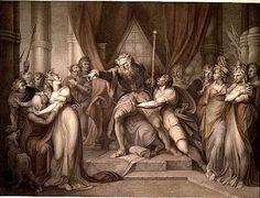 King Lear Banishing Cordelia (John Boydell, 1803).