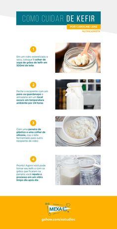 Kombucha, Beneficios Do Kefir, Us Health, Yogurt, Slow Cooker Recipes, Food And Drink, Nutrition, Healthy, Posters