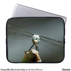 Dragonfly, Electronics Bag. Laptop Sleeves