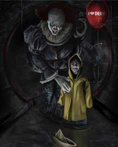 Georgie and Dancing Clown We Movie, Film Movie, Pennywise The Dancing Clown, King Book, Red Balloon, Horror Movies, Horror Art, Horror Books, Creepypasta