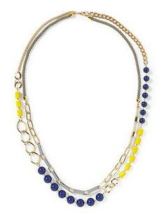Pim + Larkin Mixed Media Two Strand Necklace | Piperlime