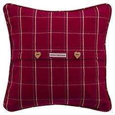 Christmas Red Check Cushion
