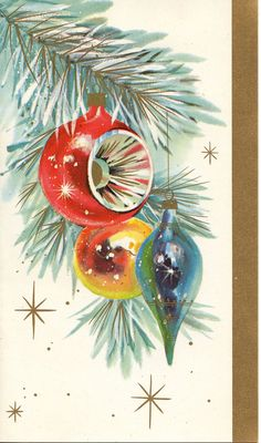 Vintage '50s Mid Mod Christmas Card