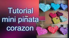 mini pinata corazon DIY Crochet Earrings, Diy, Youtube, Mini Pinatas, Hearts, Tutorials, Bricolage, Diys, Handyman Projects