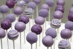 Awesome New Wedding on a budget Blog! Perfect bite-sized desserts for a lavender themed wedding! Easy to make!