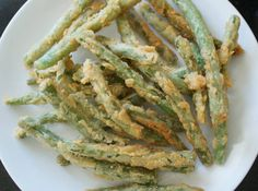 Frannie's  fried green beans - If these are anything like the ones we had at Applebees I'll be making them often!