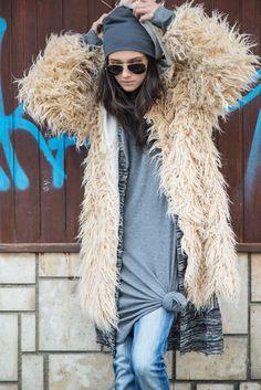 #simi #set #style #grunge #punk #fashion #plaid#beanie#model#girl#inspire#fur