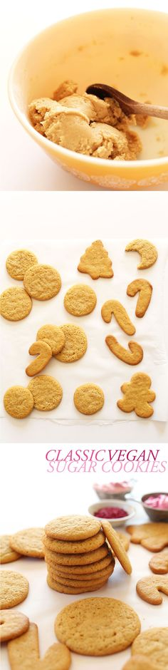 PERFECT Vegan Sugar Cookies made with 1 BOWL! #vegan - perfect for holiday baking