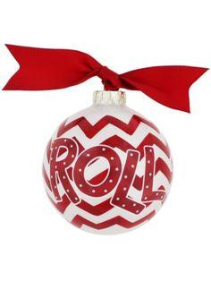 $14.50 University of Alabama Chevron Print Glass Keepsake Ornament with Gift Box