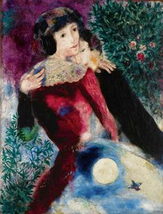 Les amoreux - Mark Chagall Marc Chagall, Klimt, Paint Photography, Georges Braque, Caravaggio, Love Painting, Pablo Picasso, Beautiful Paintings, Chagall Paintings