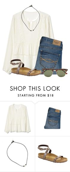 """"""""""" by flroasburn ❤ liked on Polyvore featuring Gap, Abercrombie & Fitch, Birkenstock and Ray-Ban"""