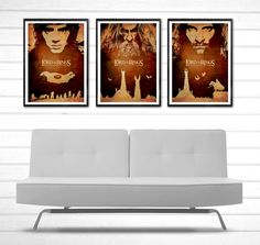 The Lord Of The Rings Movie Poster Set #Minimalism