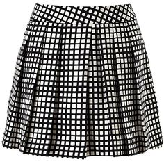 L'Agence Black Check Pleated Shorts ❤ liked on Polyvore featuring shorts, skirts, bottoms, black, checkerboard shorts, pleated skort, tailored shorts, graphic shorts and checked shorts