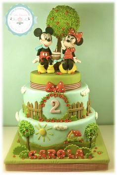 Minnie and Mickey mouse - by tortediivana @ CakesDecor.com - cake decorating website