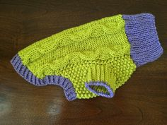Dog Sweater Apple Green & Lavender by bychancedesigns on Etsy