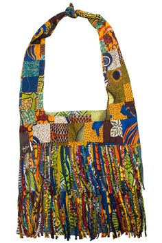 Striking ankara tote bag  - 100% cotton sourced from West Africa  - Intricate fringe tassle detail  - Colourful and eye catching  - Practical, the perfect companion