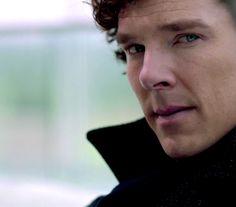 Sherlock--love the keen perception of his glance