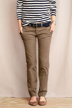 For Ali - French Walnut Women's True Slim Chinos from Lands' End
