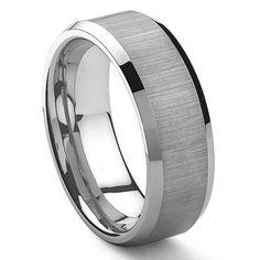 CENTOUR Tungsten Carbide Ring in Comfort Fit
