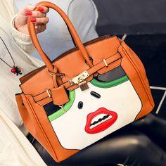 Bolsa Divertida Fashion moda Mulher Lábios Sexy Bolsas Divertidas