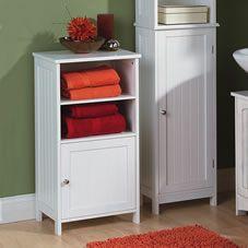 Colonial 2 Shelf 1 Door Cupboard White