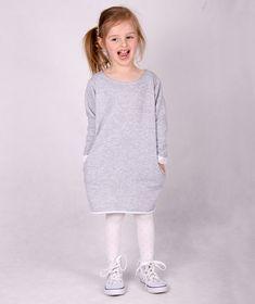 Szara dresowa sukienka dziecięca Carlo Lamon - Carlo_Lamon - Sukienki dla dziewczynek
