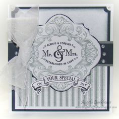 Snippets of Paper: JustRite Papercraft  Mr & Mrs Vintage Labels Four card by  Angela Barkhouse