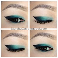 Teal Ombre Cat Eye