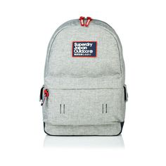 Superdry Super Marl Montana Rucksack (145 BRL) ❤ liked on Polyvore featuring bags, backpacks, grey, logo backpacks, logo bags, rucksack bags, superdry backpack and backpack bags
