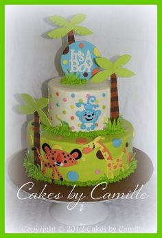 discount fisher price baby shower jungle | baby shower cakes