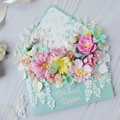 Diy Envelope Tutorial, Envelopes, Heartfelt Creations Cards, Old Cards, Quilling Flowers, Floral Letters, Shaped Cards, Beautiful Handmade Cards, Friendship Cards