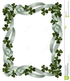 St Patrick's Day Borders   3D Illustration for St Patrick's Day Card, background, border or ...